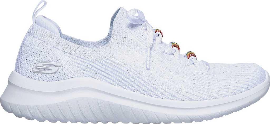 Women's Skechers Ultra Flex 2.0 Rainbow Jewel Sneaker, White/Multi, large, image 2