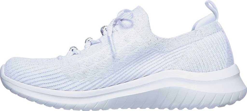Women's Skechers Ultra Flex 2.0 Rainbow Jewel Sneaker, White/Multi, large, image 3