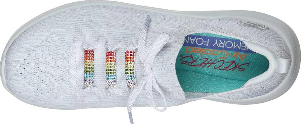 Women's Skechers Ultra Flex 2.0 Rainbow Jewel Sneaker, White/Multi, large, image 4