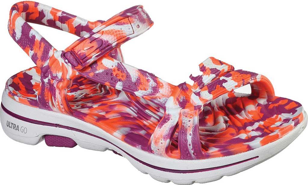 Women's Skechers Foamies GOwalk 5 Riptide Sandal, Purple/Multi, large, image 1
