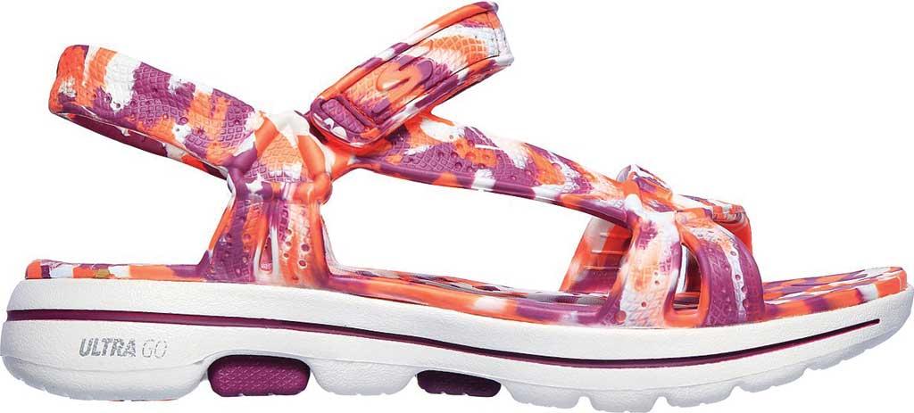 Women's Skechers Foamies GOwalk 5 Riptide Sandal, Purple/Multi, large, image 2