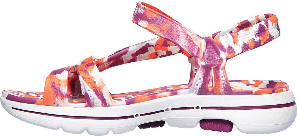 Women's Skechers Foamies GOwalk 5 Riptide Sandal, Purple/Multi, large, image 3