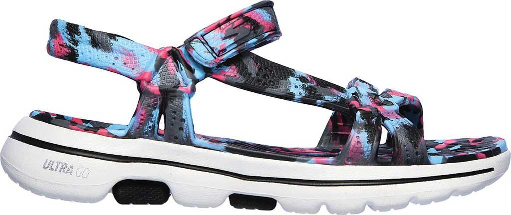 Women's Skechers Foamies GOwalk 5 Riptide Sandal, Black/Multi, large, image 2