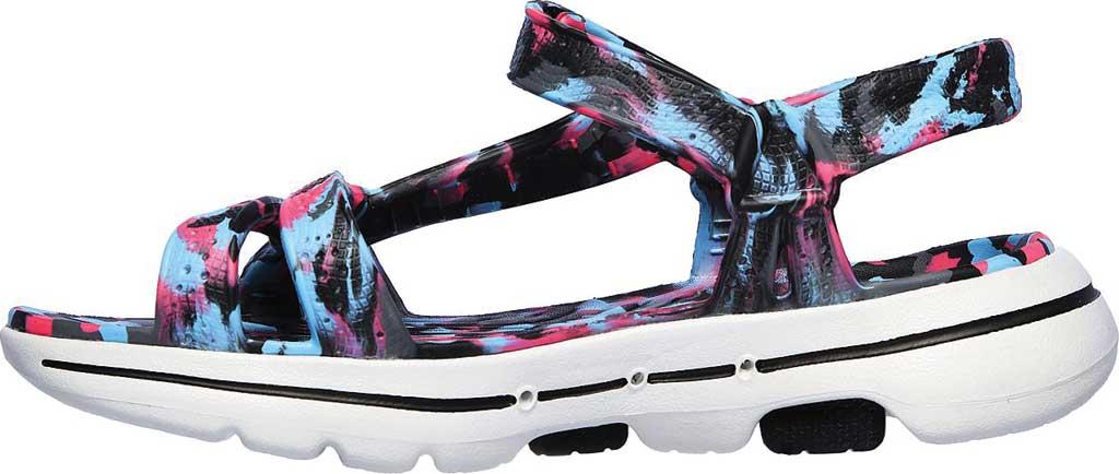 Women's Skechers Foamies GOwalk 5 Riptide Sandal, Black/Multi, large, image 3