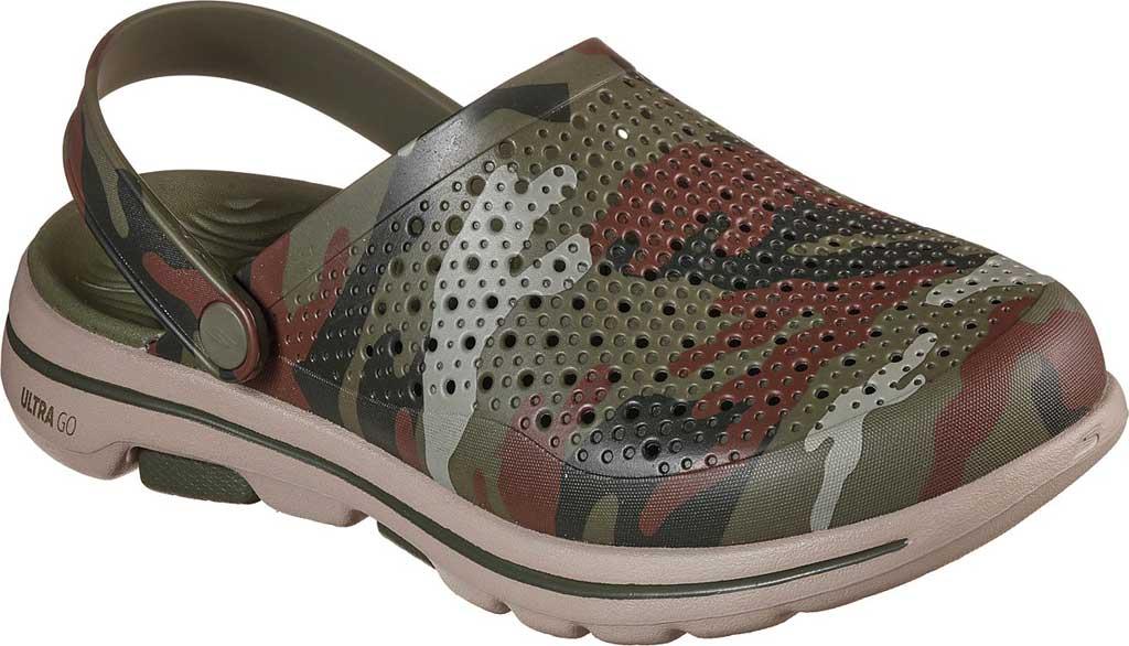 Men's Skechers Foamies GOwalk 5 Hideout Clog, Olive, large, image 1