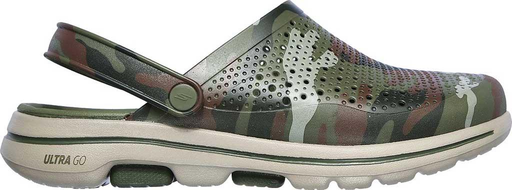 Men's Skechers Foamies GOwalk 5 Hideout Clog, Olive, large, image 2