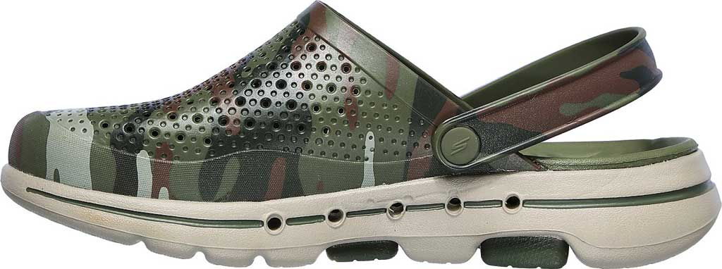 Men's Skechers Foamies GOwalk 5 Hideout Clog, Olive, large, image 3