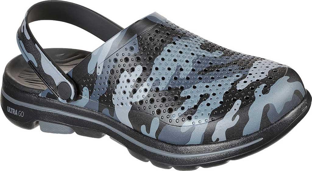 Men's Skechers Foamies GOwalk 5 Hideout Clog, Black/Gray, large, image 1