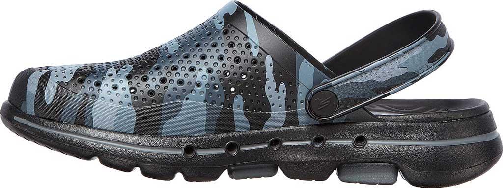 Men's Skechers Foamies GOwalk 5 Hideout Clog, Black/Gray, large, image 3