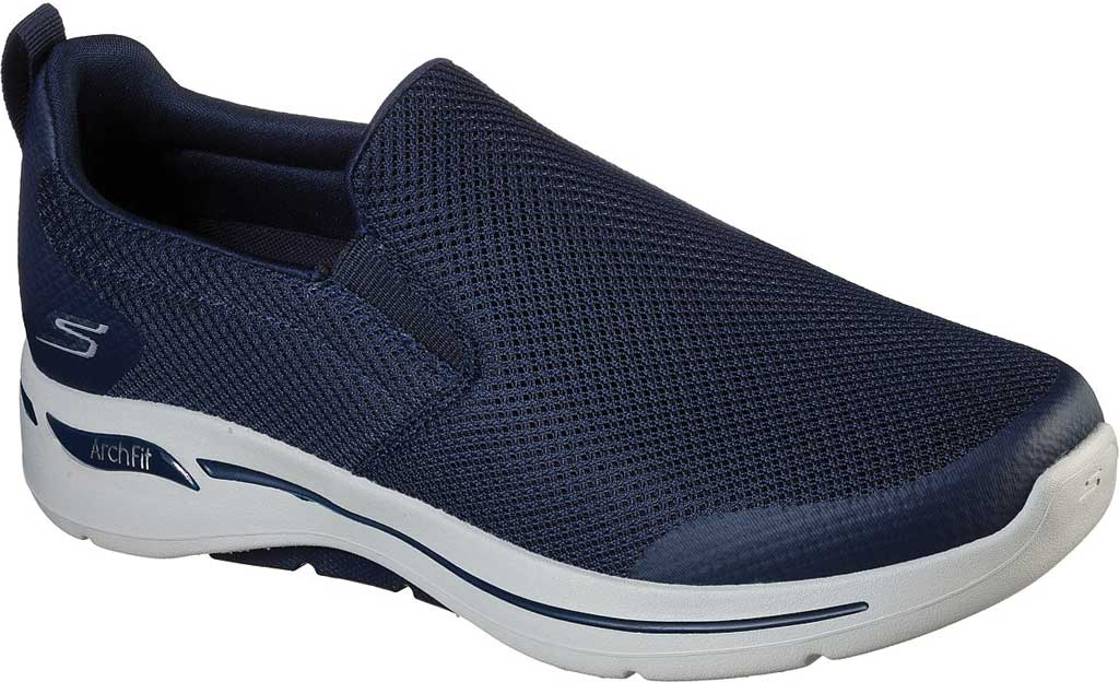 Men's Skechers GOwalk Arch Fit Togpath Slip-On, Navy/Gray, large, image 1