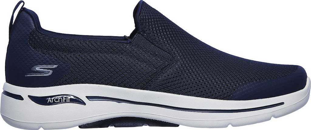 Men's Skechers GOwalk Arch Fit Togpath Slip-On, Navy/Gray, large, image 2