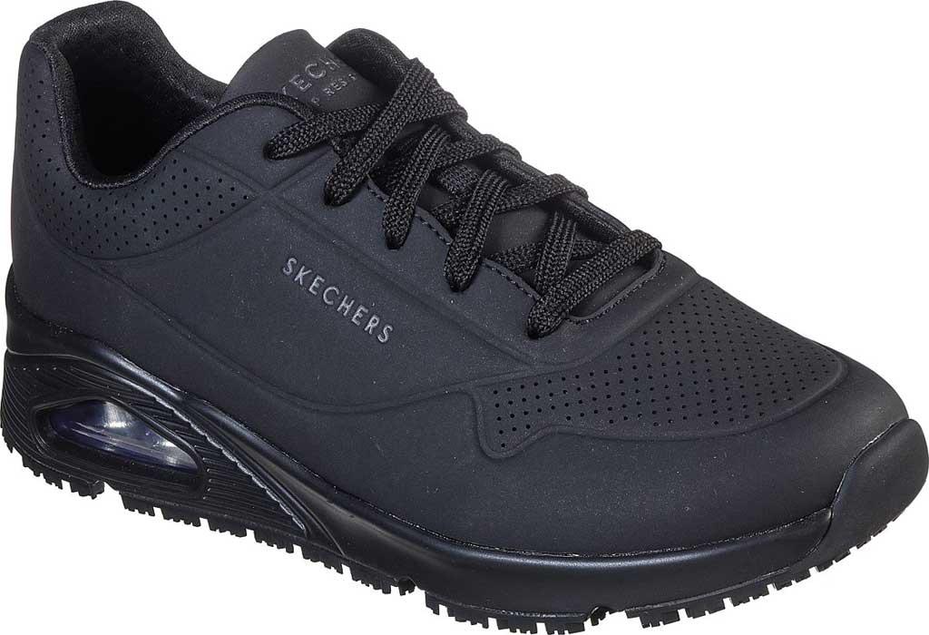 Women's Skechers Work Relaxed Fit Uno SR Sneaker, Black, large, image 1