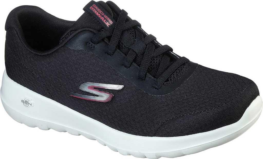 Women's Skechers GOwalk Joy Ecstatic Sneaker, Black/White, large, image 1