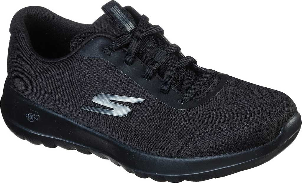 Women's Skechers GOwalk Joy Ecstatic Sneaker, Black/Black, large, image 1