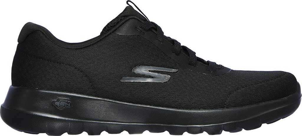 Women's Skechers GOwalk Joy Ecstatic Sneaker, Black/Black, large, image 2