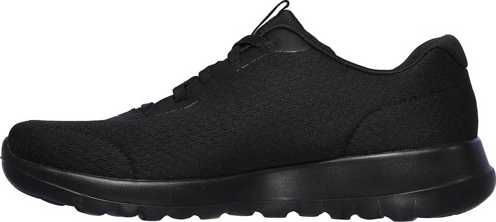Women's Skechers GOwalk Joy Ecstatic Sneaker, Black/Black, large, image 3