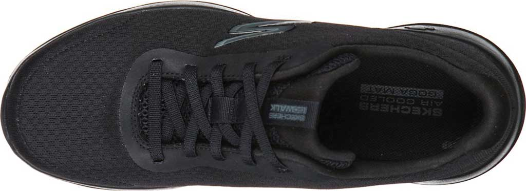 Women's Skechers GOwalk Joy Ecstatic Sneaker, Black/Black, large, image 4