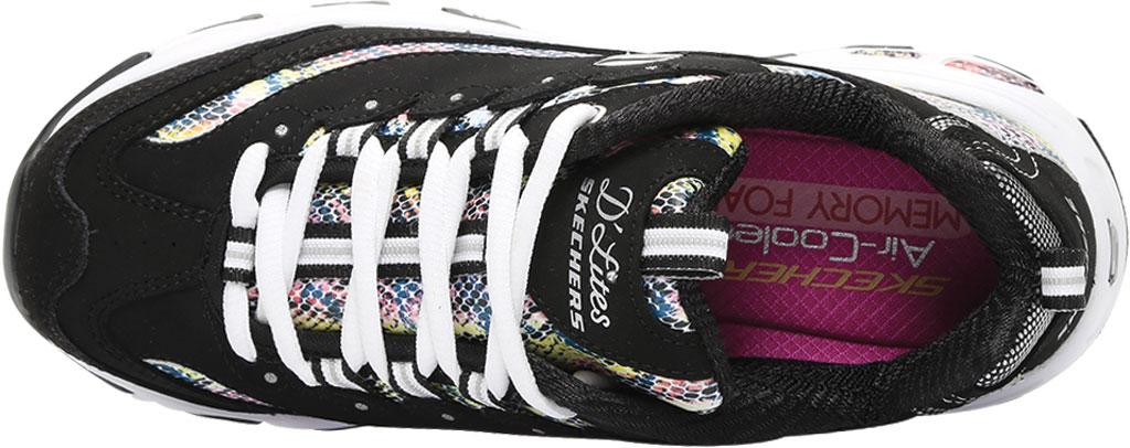 Women's Skechers D'Lites Smooth Glide Sneaker, Black/Multi, large, image 5