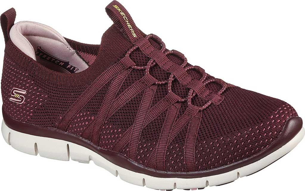 Women's Skechers Gratis Chic Newness Sneaker, Plum, large, image 1