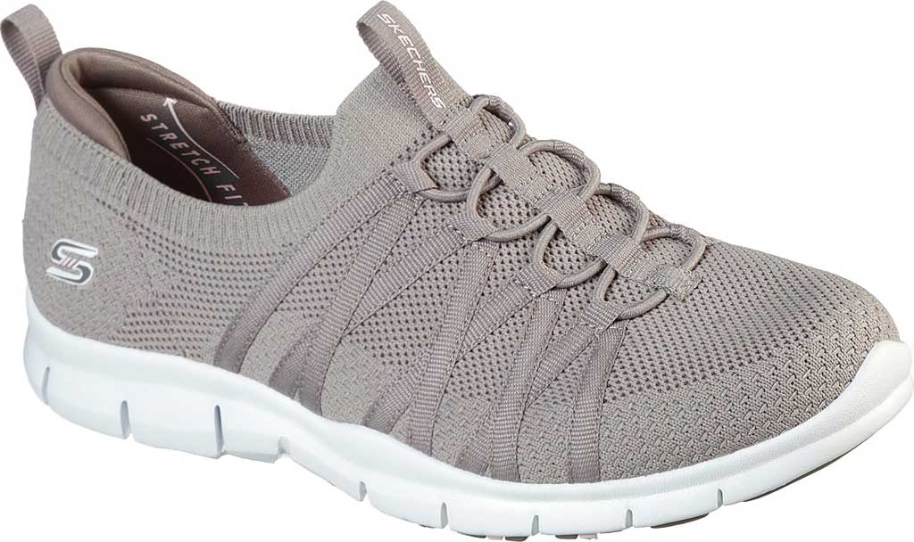 Women's Skechers Gratis Chic Newness Sneaker, Taupe, large, image 1