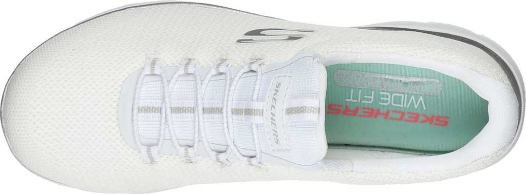 Women's Skechers Summits Cool Classic Sneaker, White/Silver, large, image 4