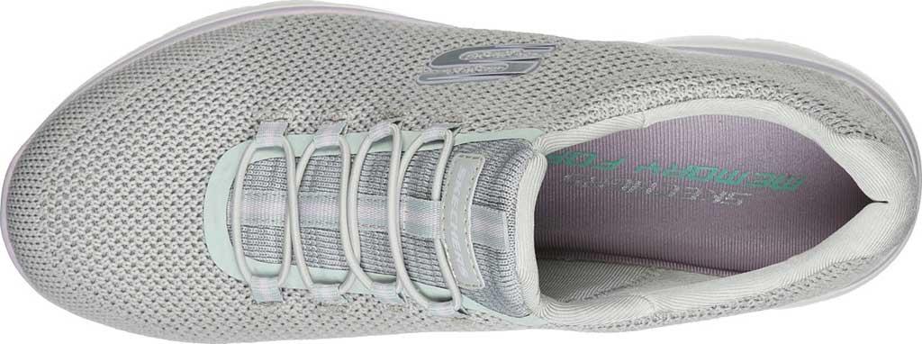 Women's Skechers Summits Cool Classic Sneaker, Light Gray/Lavender, large, image 4