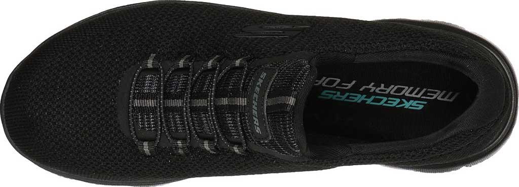 Women's Skechers Summits Cool Classic Sneaker, Black/Black, large, image 4