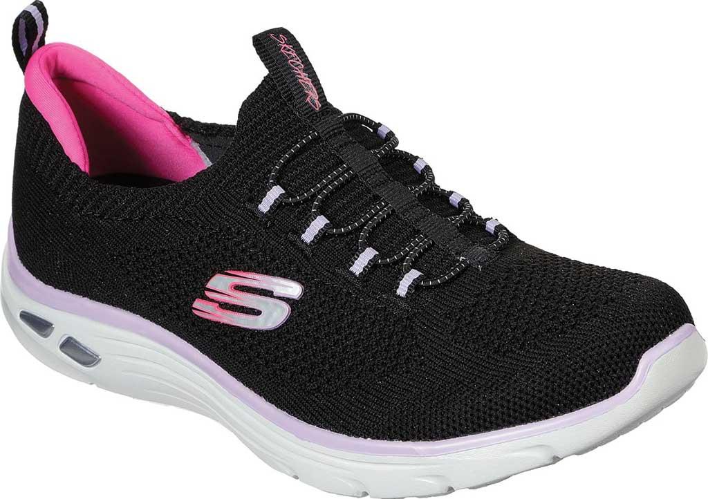 Women's Skechers Empire D'Lux Paradise Sky Sneaker, Black/Hot Pink, large, image 1