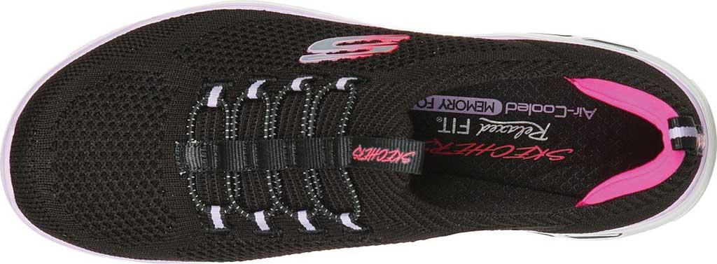 Women's Skechers Empire D'Lux Paradise Sky Sneaker, Black/Hot Pink, large, image 4