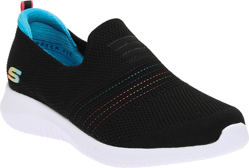 Women's Skechers Ultra Flex Serene Aura Slip-On, Black Multi, large, image 1