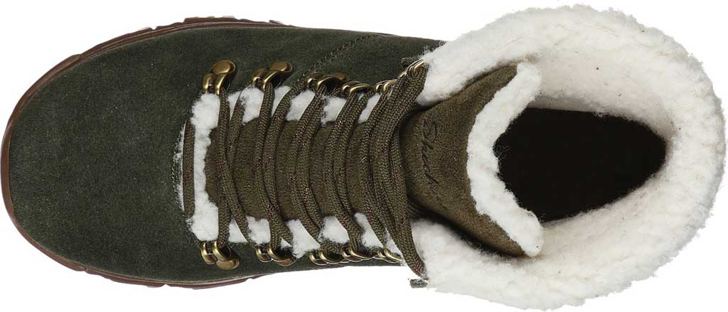 Women's Skechers D'Lites Winter Bliss Boot, Olive/Brown, large, image 4