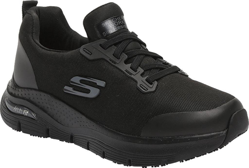 Women's Skechers Work Arch Fit Vermical Sneaker, Black, large, image 1