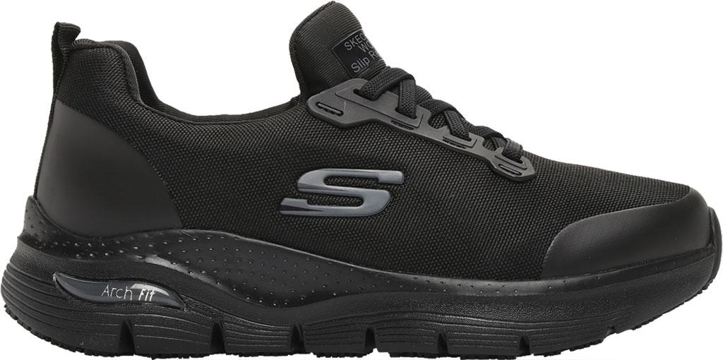 Women's Skechers Work Arch Fit Vermical Sneaker, Black, large, image 2