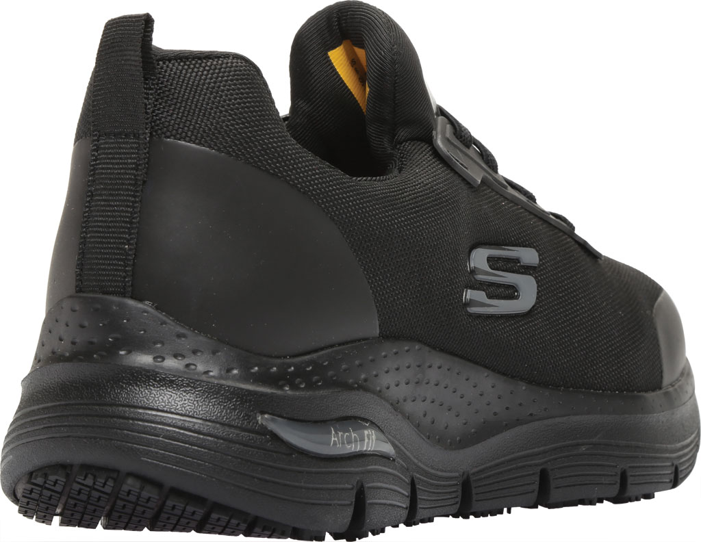 Women's Skechers Work Arch Fit Vermical Sneaker, Black, large, image 4