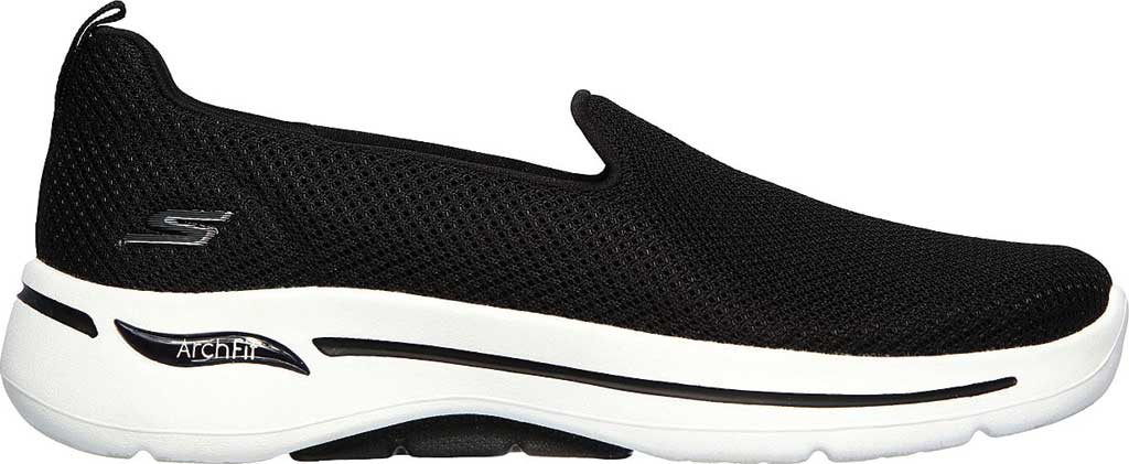 Women's Skechers GOwalk Arch Fit Grateful Slip On Sneaker, Black/White, large, image 2