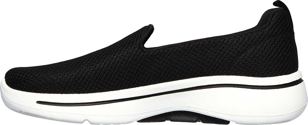 Women's Skechers GOwalk Arch Fit Grateful Slip On Sneaker, Black/White, large, image 3