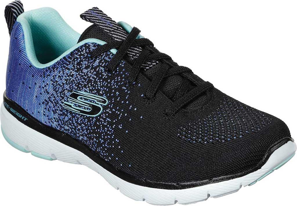 Women's Skechers Flex Appeal 3.0 She's Iconic Sneaker, Black/Blue, large, image 1