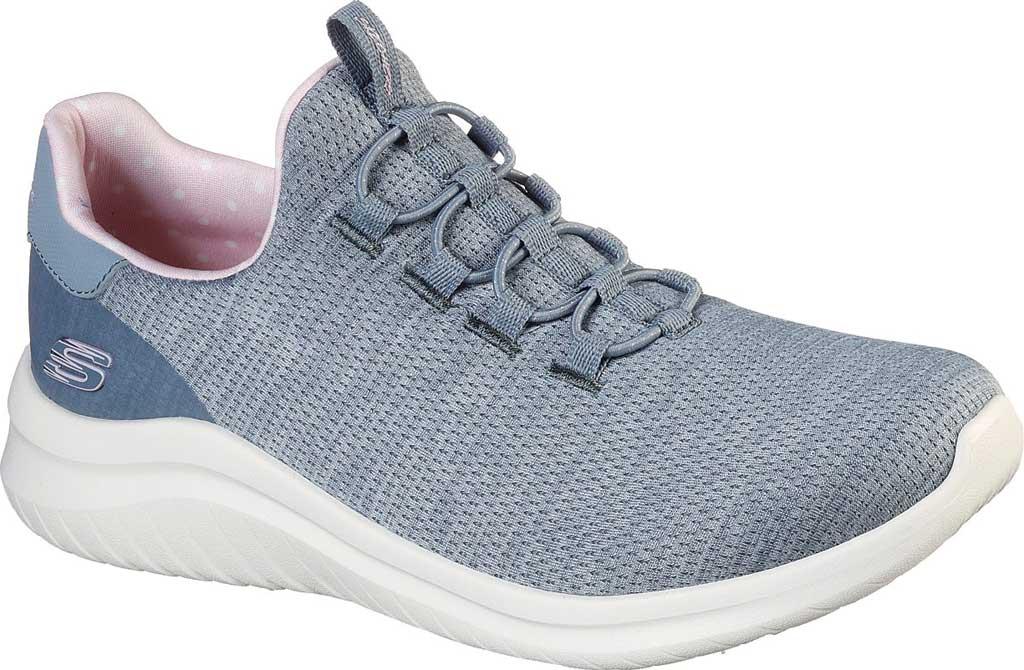 Women's Skechers Ultra Flex 2.0 Delightful Spot Sneaker, Gray/Pink, large, image 1