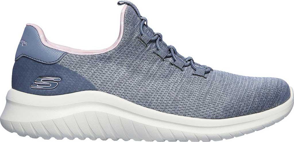 Women's Skechers Ultra Flex 2.0 Delightful Spot Sneaker, Gray/Pink, large, image 2
