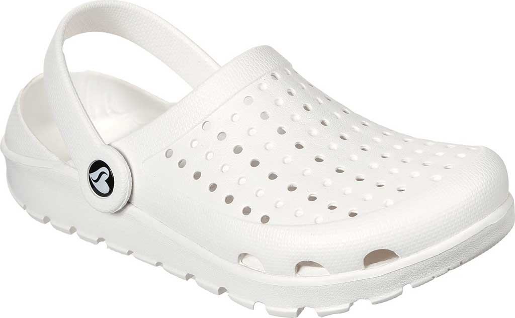 Women's Skechers Foamies Footsteps Transcend Clog, White, large, image 1