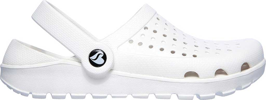 Women's Skechers Foamies Footsteps Transcend Clog, White, large, image 2