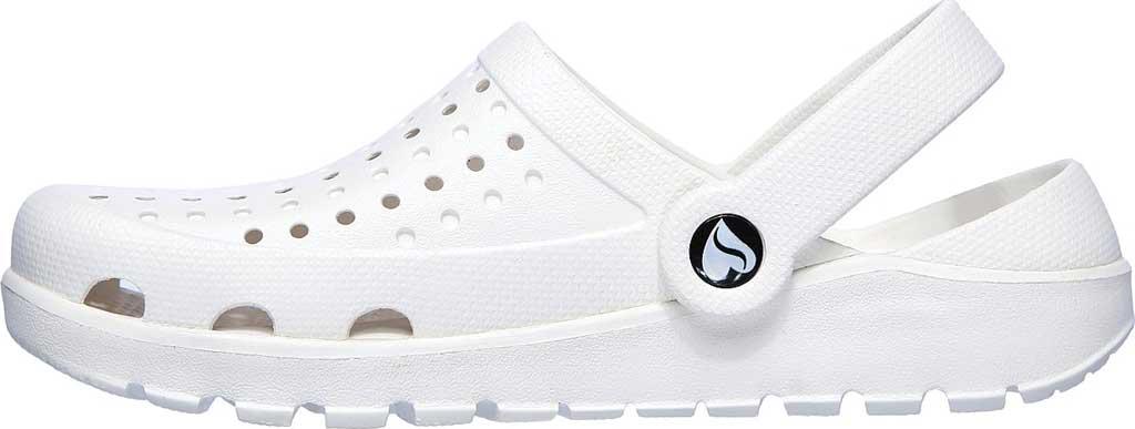 Women's Skechers Foamies Footsteps Transcend Clog, White, large, image 3