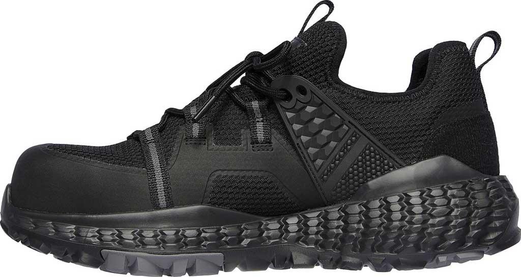 Men's Skechers Work Monster Comp Toe Sneaker, Black/Black, large, image 3