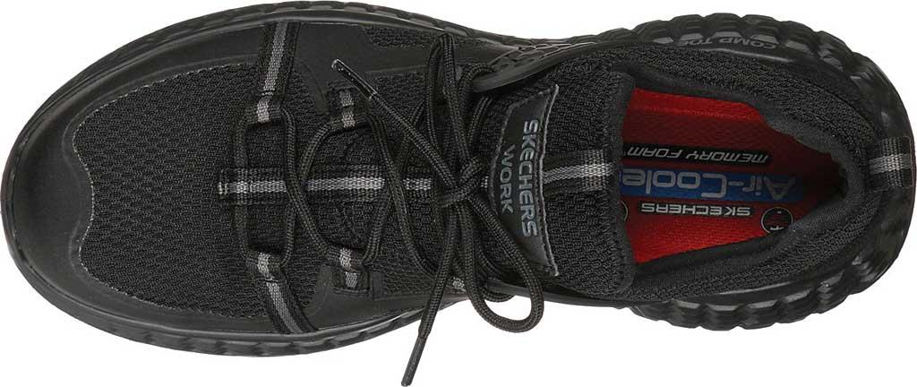 Men's Skechers Work Monster Comp Toe Sneaker, Black/Black, large, image 4