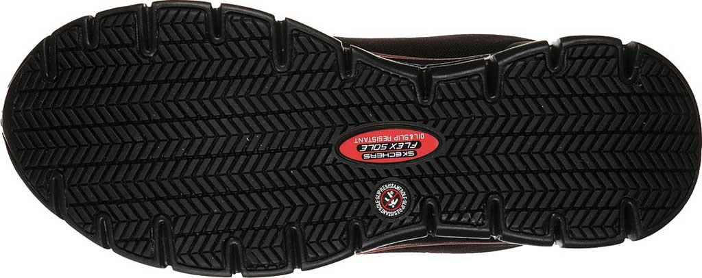 Women's Skechers Work Sure Track Chiton Alloy Toe Sneaker, Black/Rose Gold, large, image 5