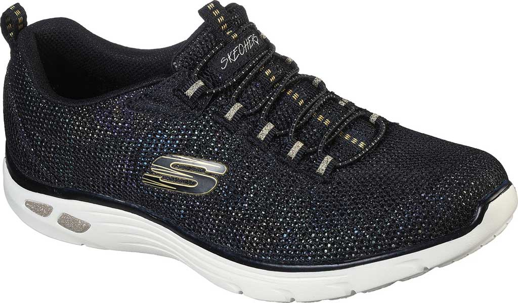 Women's Skechers Relaxed Fit Empire D'Lux Charming Grace Sneaker, Black/Multi, large, image 1