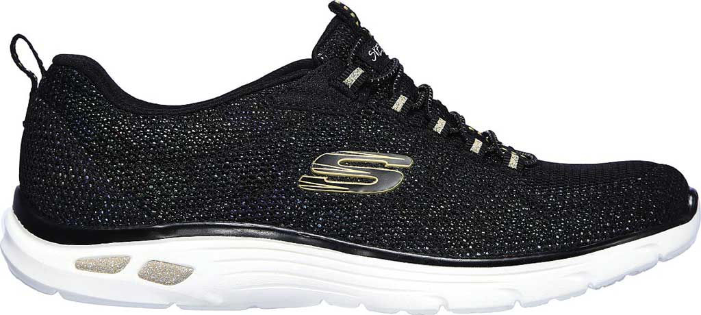 Women's Skechers Relaxed Fit Empire D'Lux Charming Grace Sneaker, Black/Multi, large, image 2