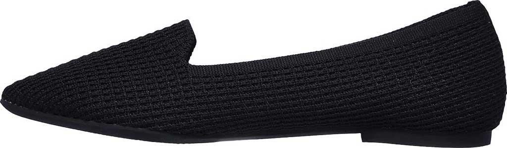 Women's Skechers Cleo Psychic Flat, Black/Black, large, image 3
