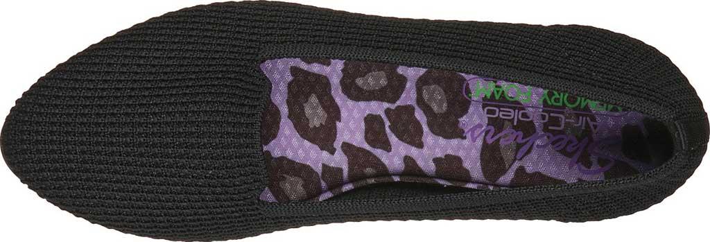 Women's Skechers Cleo Psychic Flat, Black/Black, large, image 4