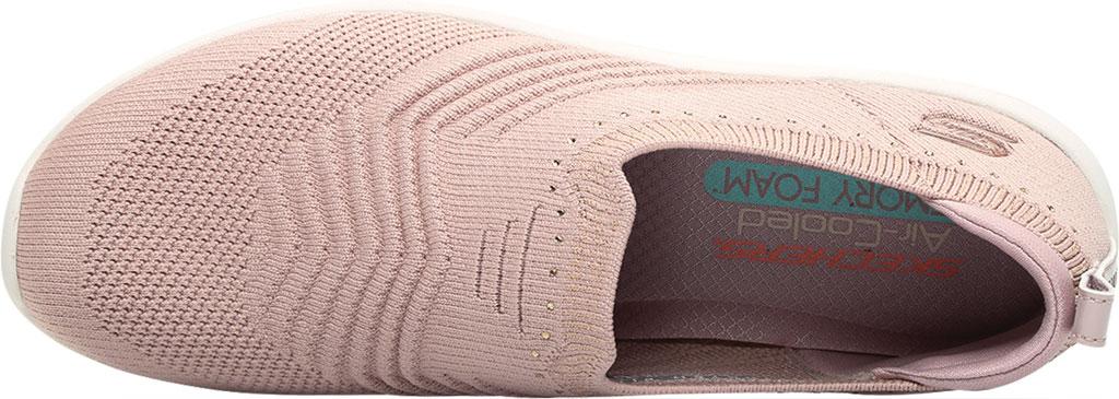 Women's Skechers Arya Sparks Joy Slip On Sneaker, Mauve, large, image 5